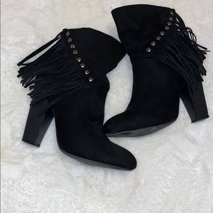 Booties, 4 1/2 inch heels